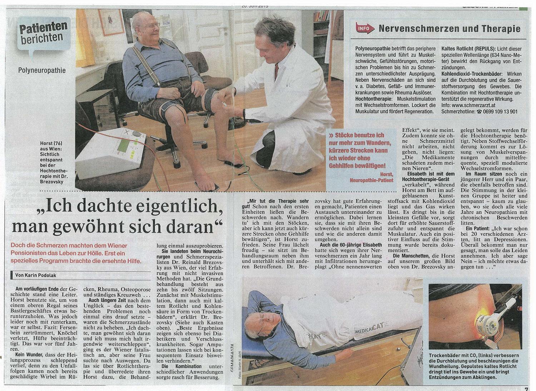 Quelle: Kronen Zeitung 06/15: Patienten berichten