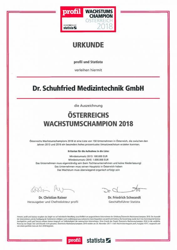 Urkunde-Schuhfried-Wachstumschampion-2018